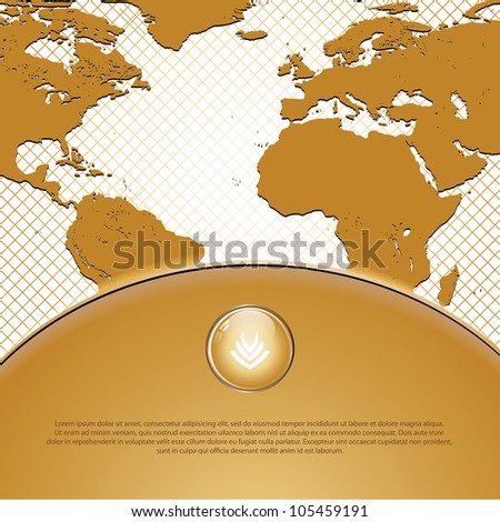 Golden abstract business background - stock vector