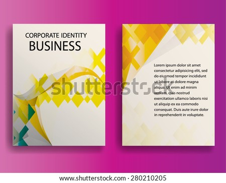 Golden Abstract Modern Flyers , Banners or Posters.  Vector Illustration.  - stock vector