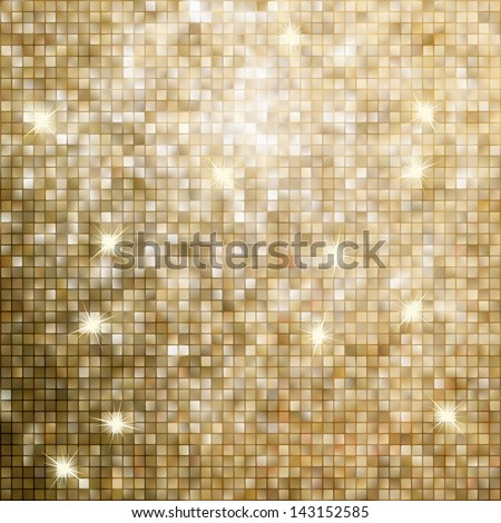 Golden abstract mosaic background. EPS 8 vector file included - stock vector