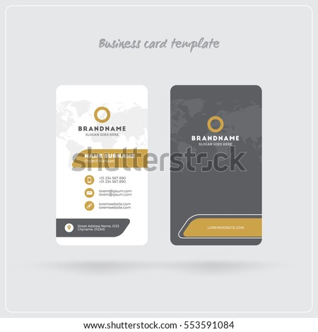 Golden gray vertical business card print stock vector 553591084 golden and gray vertical business card print template double sided personal visiting card with flashek Gallery