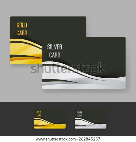 Golden Silver Membership Luxury Card Design Vector 262845257 – Club Card Design