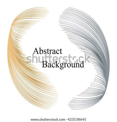 Golden and Silver  Striped Elements  with Text in the Center.Abstract  Background. Template for  Labels,  Banners, Badges, Posters, Stickers and Advertising Actions. Vector Illustration - stock vector