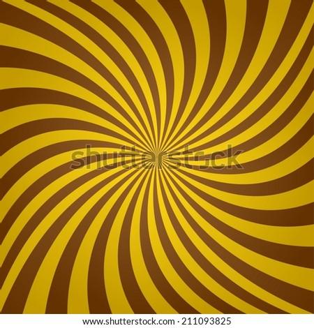 Golden brown whirl background - vector version - stock vector