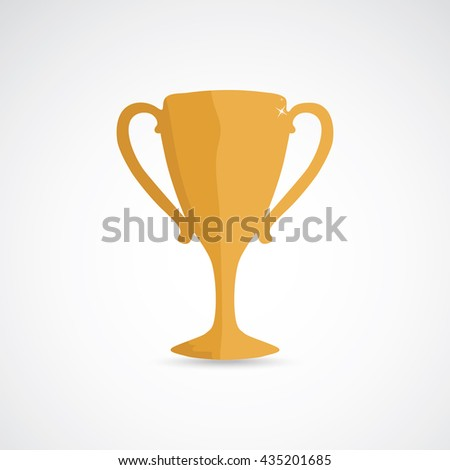 Golden champion cup, prize for the winner - stock vector