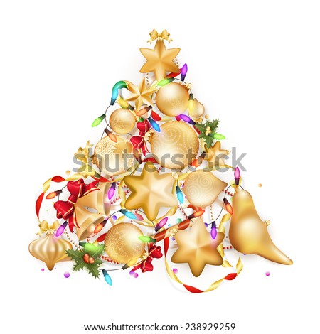 Golden Christmas background. EPS 10 vector file included - stock vector