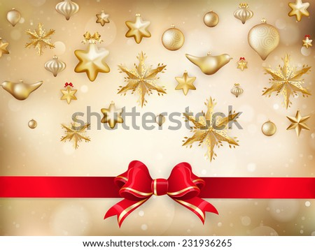 Golden Christmas Decoration. EPS 10 vector file included