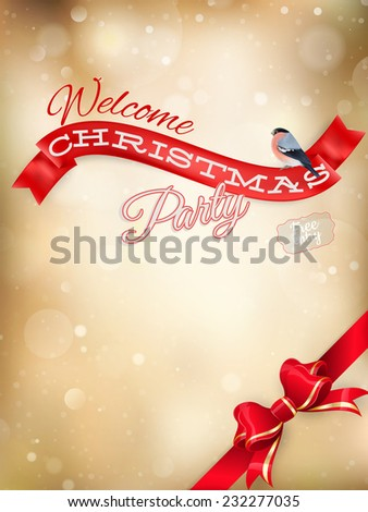 Golden Christmas Decoration. EPS 10 vector file included - stock vector