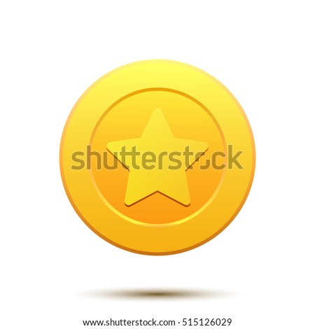 Golden Coin with Star