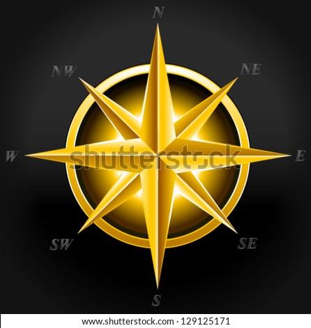 golden compass, treasury - stock vector