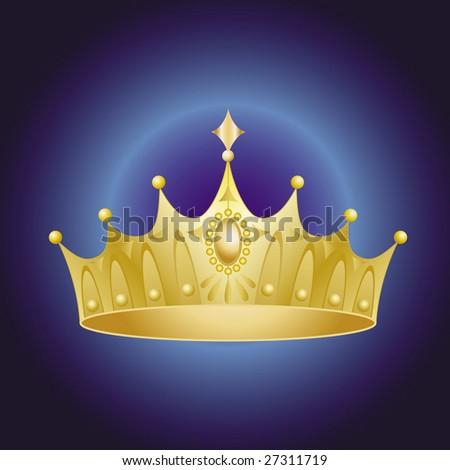 golden crown - stock vector