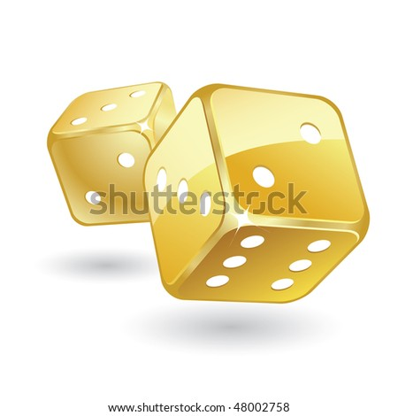 Golden Dices - stock vector
