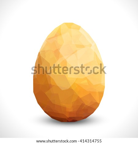 Golden egg. Vector design template. Modern Vector golden illustration eps10. Premium editable golgen egg template for your design. Easter card stilish design - stock vector