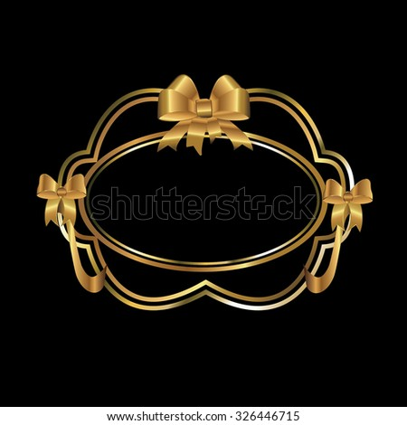 golden emblem label badge ,illustrations vector