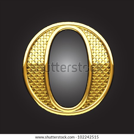 golden figure made in vector - stock vector