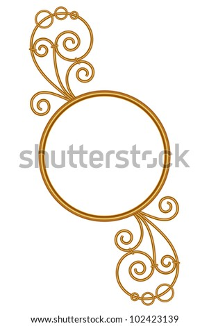 Golden frame, illustration - stock vector