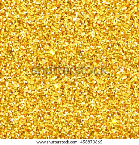 golden glitter seamlessly tiling shimmering texture or background - perfect for christmas or luxury themed designs - stock vector