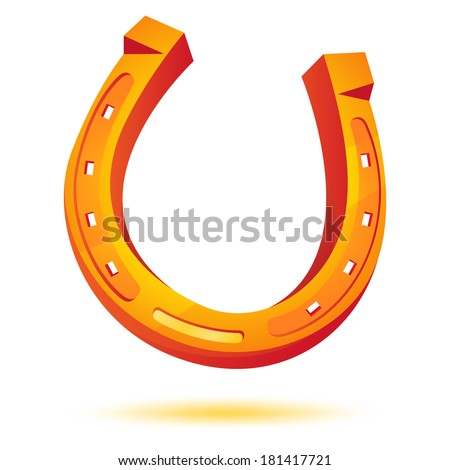 Golden Horseshoe. Vector - stock vector