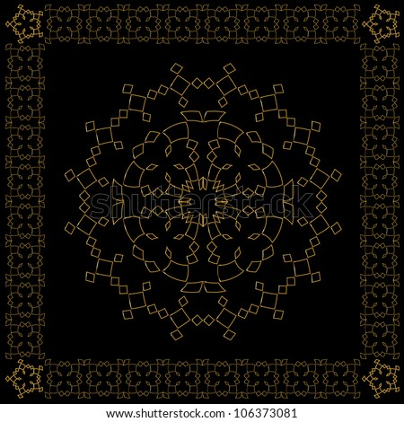 Golden Islamic Design. Jpeg Version Also Available In Gallery.