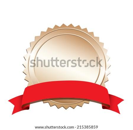 Golden label - stock vector