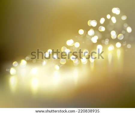 Golden lights. Vector illustration. - stock vector