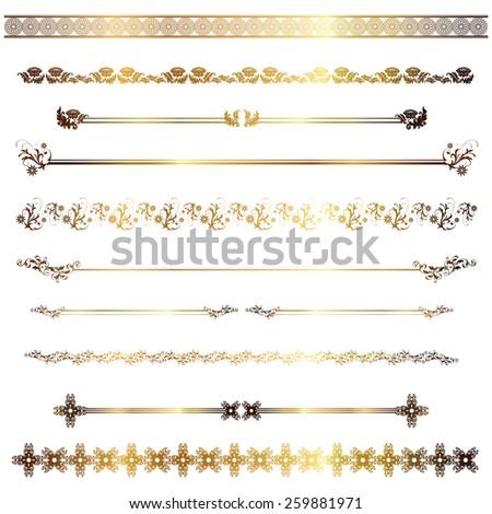 golden line - stock vector