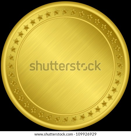Golden medal, vector illustration - stock vector