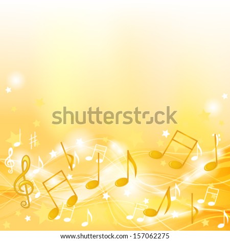 Golden melody - stock vector