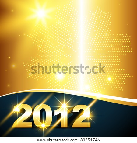 golden new year vector background