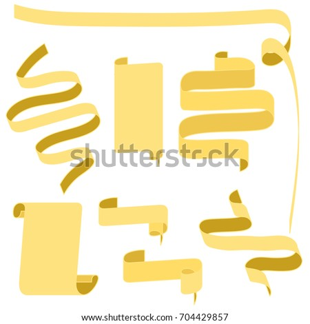 Golden rusty flat scroll ribbons parchment stock vector 704429857 golden or rusty flat scroll ribbons parchment papyrus medieval decoration for banner stopboris Choice Image