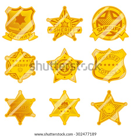 ... star-badges-police-and-law-authority-and-justice-marshall-star-vector
