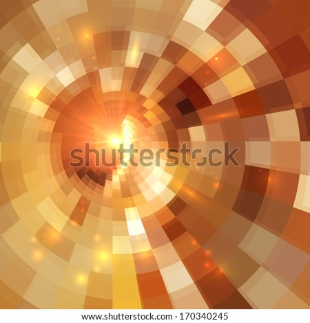 Golden shining vector mosaic abstract background - stock vector