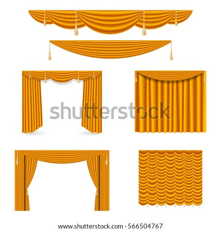 Golden silk curtains draperies interior decoration stock photo golden silk curtains draperies interior decoration stock photo photo vector illustration 566504767 shutterstock junglespirit Images