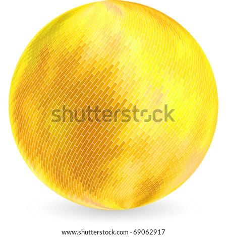 Golden sphere. Vector illustration. - stock vector