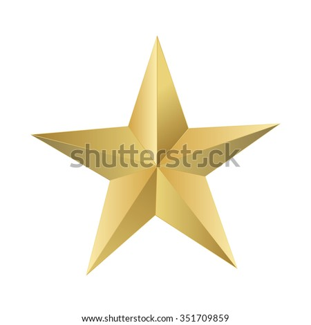 Golden star elegant, vector illustrator. - stock vector