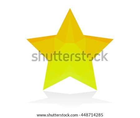Golden star on white background.Golden Star icon - stock vector
