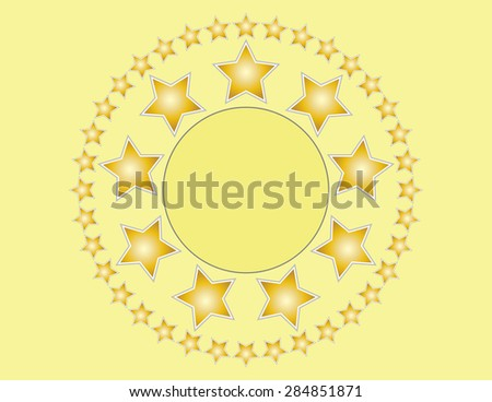 Golden Stars Background With Copy Space - stock vector