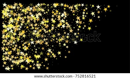golden stars new year border