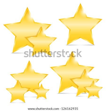 Golden stars, vector eps10 illustration - stock vector