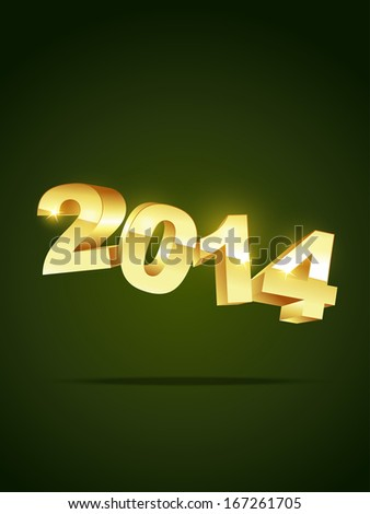 golden style 2014 happy new year
