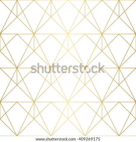 Seamless geometric pattern golden lines on stock vector for Object pool design pattern