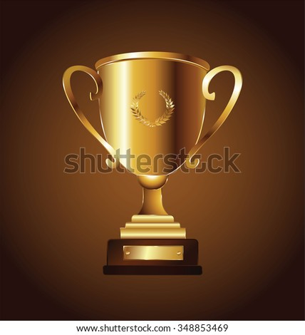 Golden trophy vector illustration