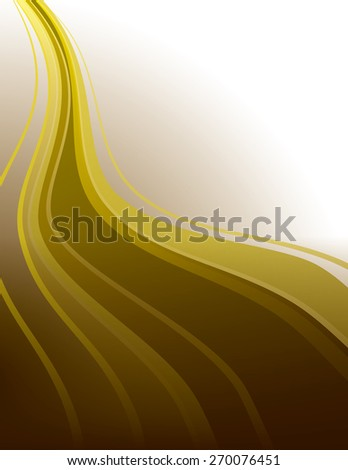 Golden Vector Background with Wavy Lines. - stock vector