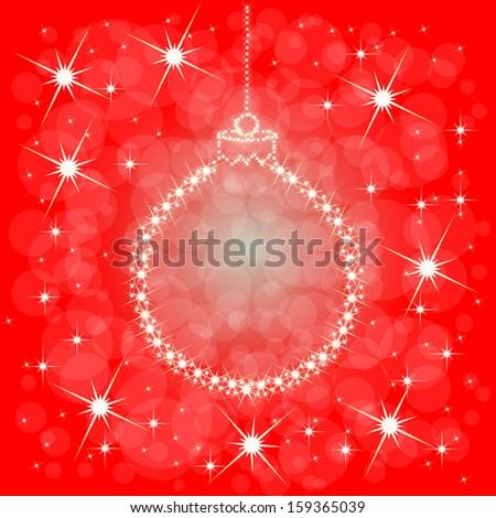 Golden Vector Christmas Balls From Stars. Vector Card - stock vector