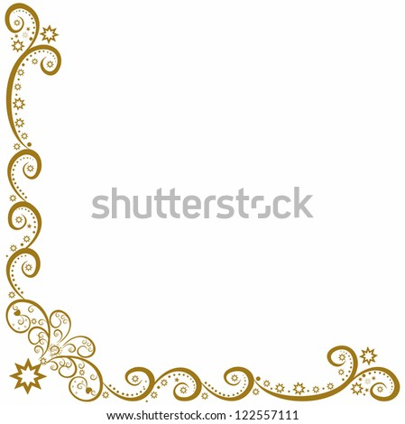 Golden vector decorative pattern.Editable and scalable vector - stock vector