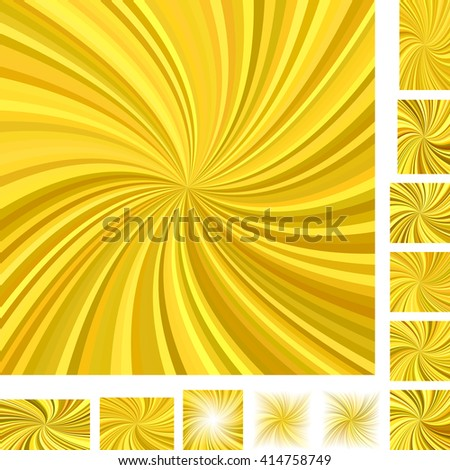 Golden vector spiral background set. Different color, screen, paper size versions. - stock vector