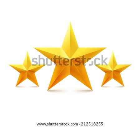 Golden vector stars - stock vector