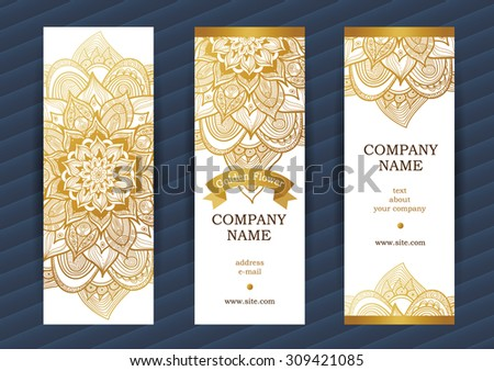 golden vintage ornate cards outline floral decor golden flower template frame for save
