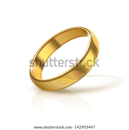 Golden Wedding Ring Vector Illustration Isolated Stock Vector 2018