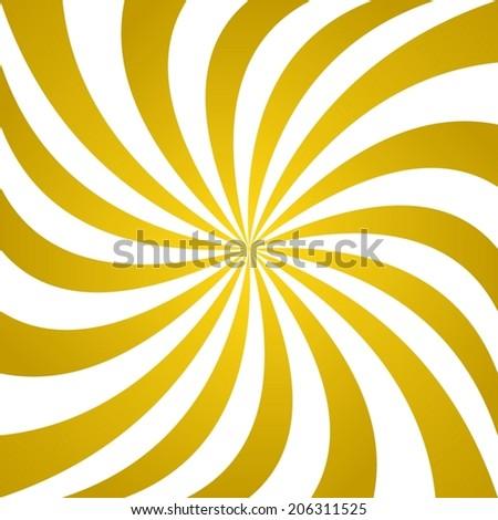 Golden whirl pattern background - vector version - stock vector