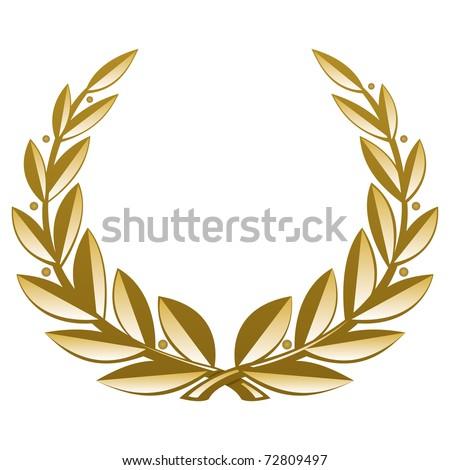 Golden Wreath. Vector Illustration (EPS v. 8.0) - stock vector